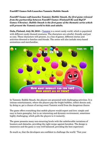 fanart games soft launches yammix bubble smash by westwing issuu