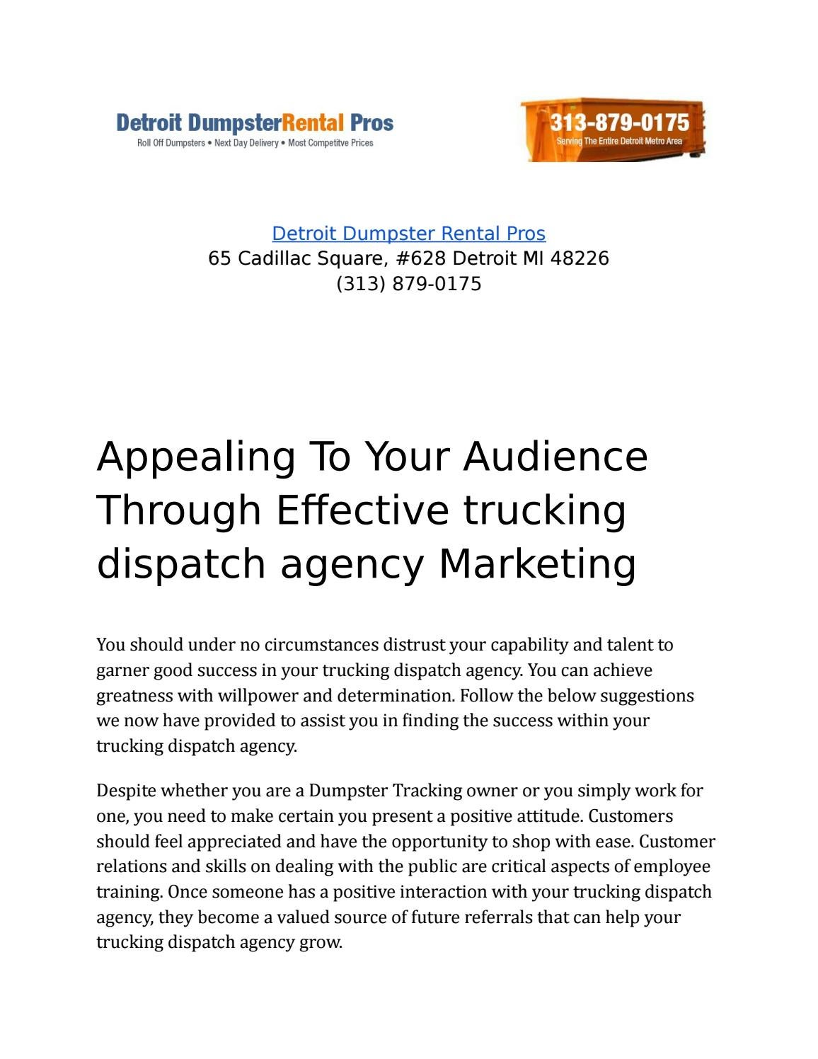 Creative Ways To Develop And Own A Profitable Trucking