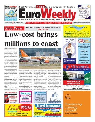 d9fc7be1cd Euro Weekly News - Costa Blanca South 21 - 27 July 2016 Issue 1620 ...