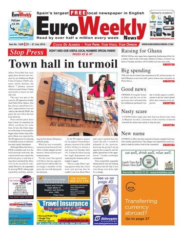 2139114704dd7 Euro Weekly News - Costa de Almeria 21 - 27 July 2016 Issue 1620 by ...