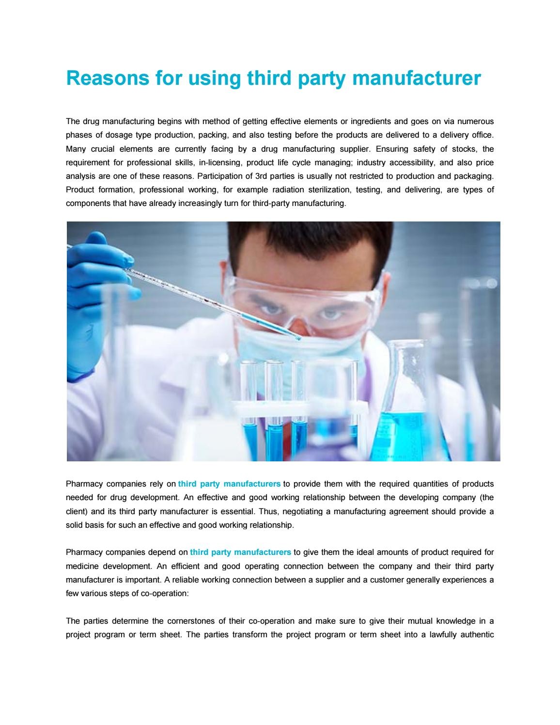 Reasons For Using Third Party Manufacturer By Divitnutrition Issuu