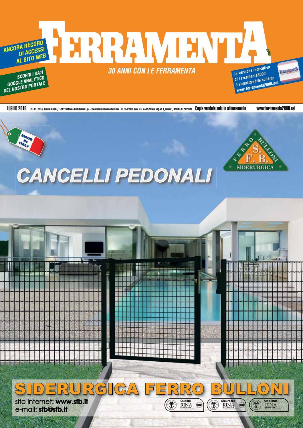 Ferramenta2000 Luglio 2016 By E T Edizioni Tecniche Srl Issuu