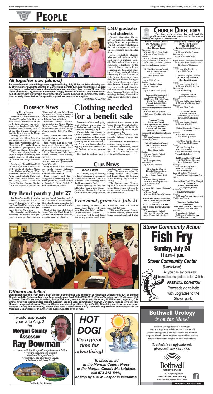 Morgan County Press, July 20, 2016