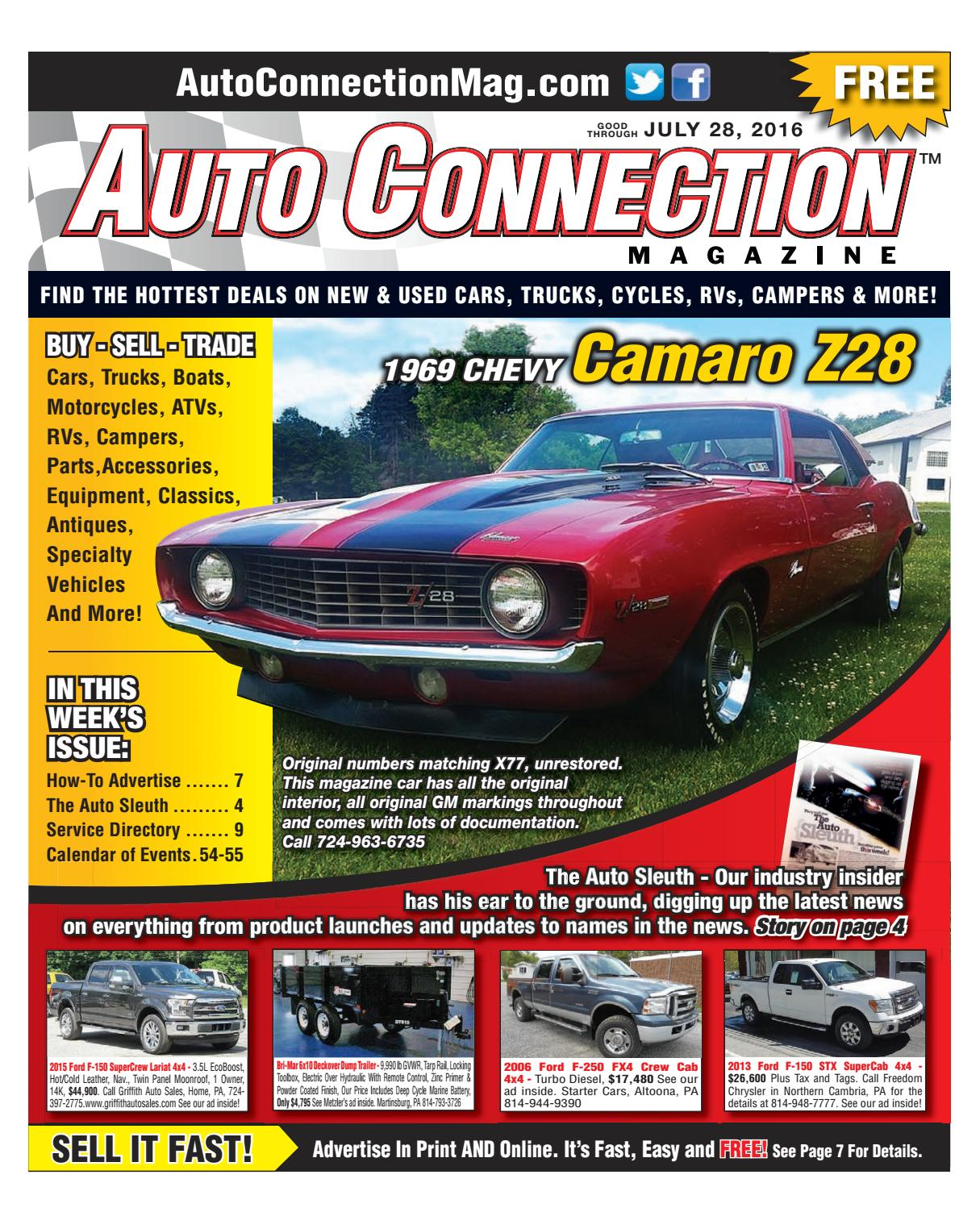 07 28 16 Auto Connection Magazine By Issuu Alternator Wiring Harness Concours 390 Xr7 Repro 1967
