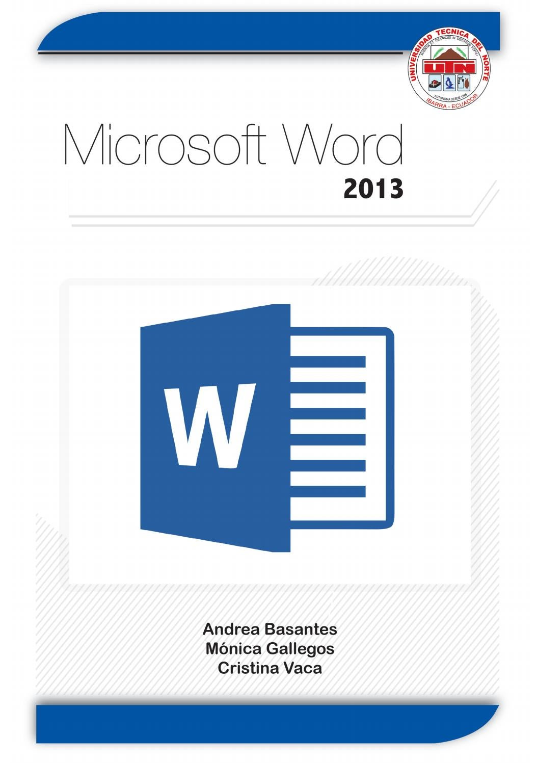 eBook Microsoft Word 2013 by Editorial Universidad Técnica del Norte ...