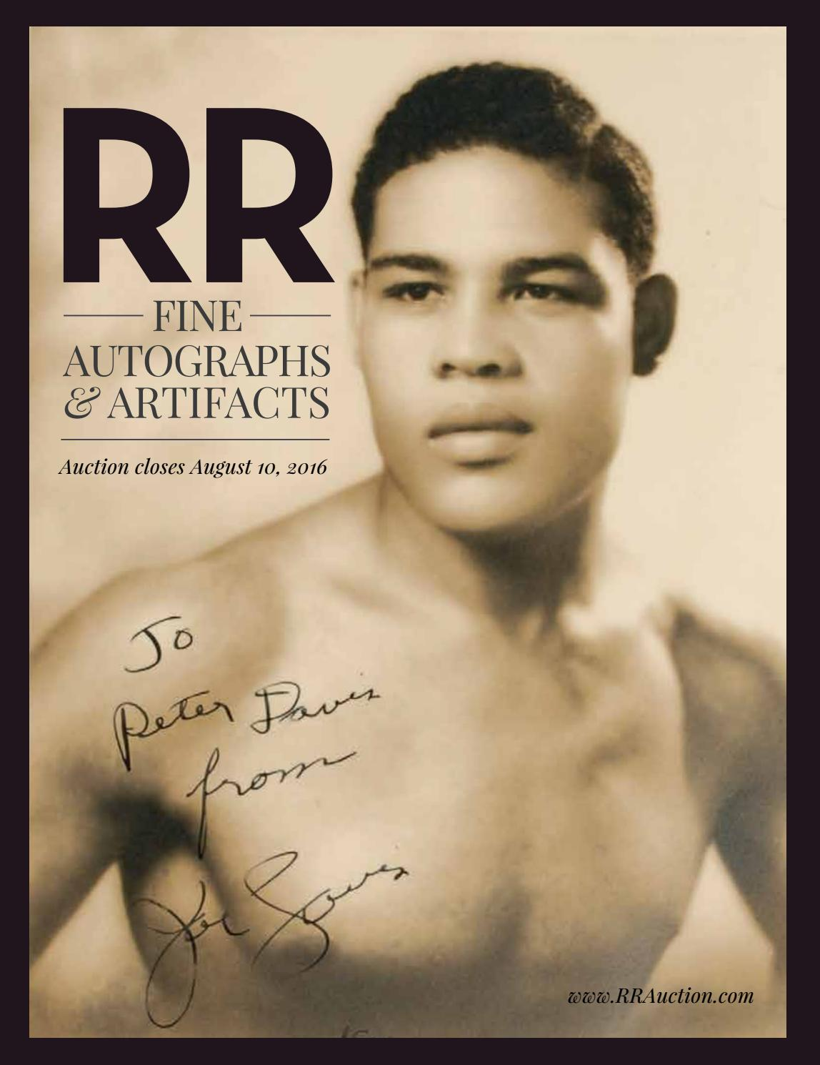 RR Auction August 2016 Fine Autograph and Artifact Auction by RR Auction -  issuu 7bc28d582