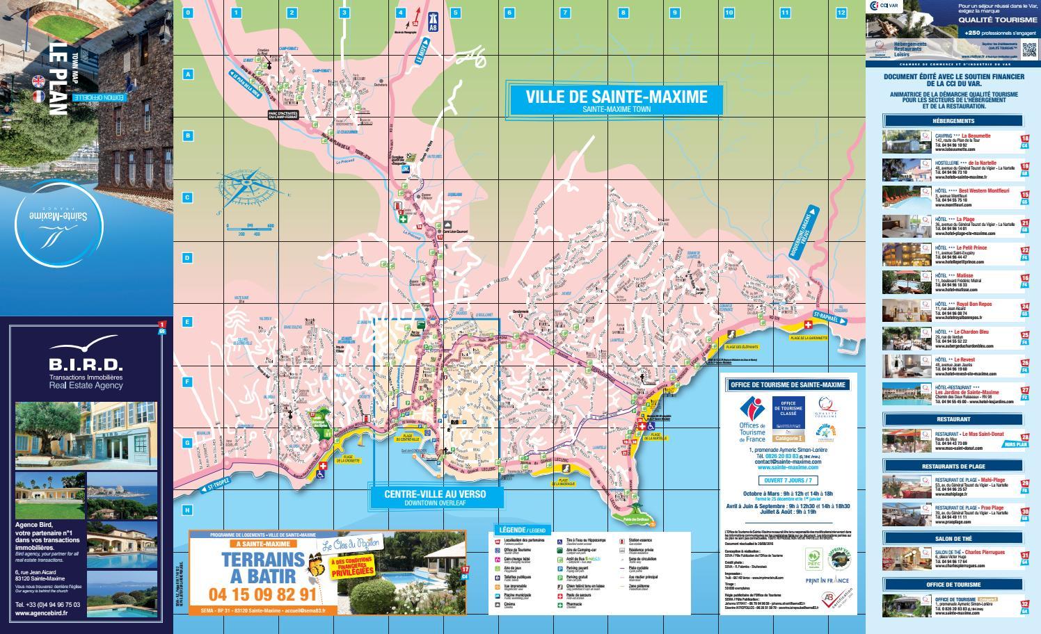 Plan de ville de sainte maxime 2016 by office de tourisme de sainte maxime issuu - Office tourisme sainte maxime ...