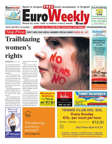 d935fcab61 Euro Weekly News - Costa del Sol 21 - 27 July 2016 Issue 1620 by ...