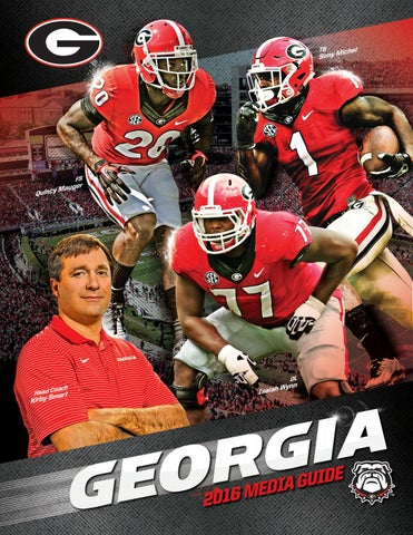 8623e9d8b 2016 Georgia Bulldog Football Media Guide by Georgia Bulldogs ...