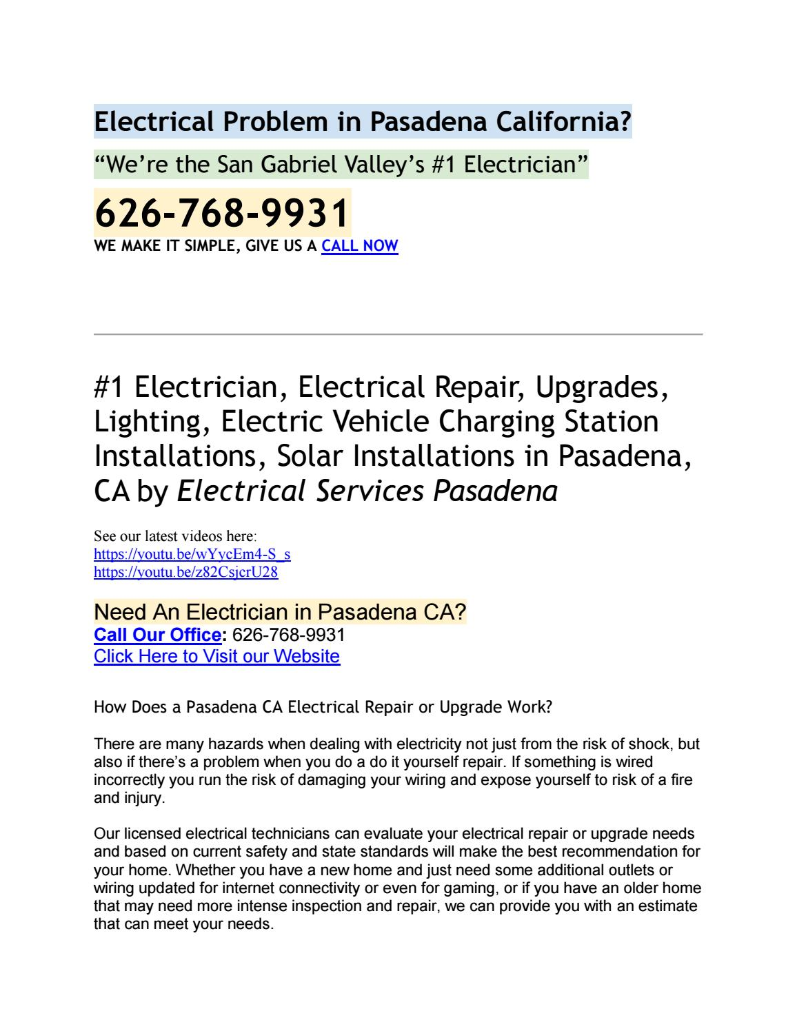 Licensed Electrician In San Marino 626 768 9931 By Pics Photos Do It Yourself Jamessmith8970 Issuu
