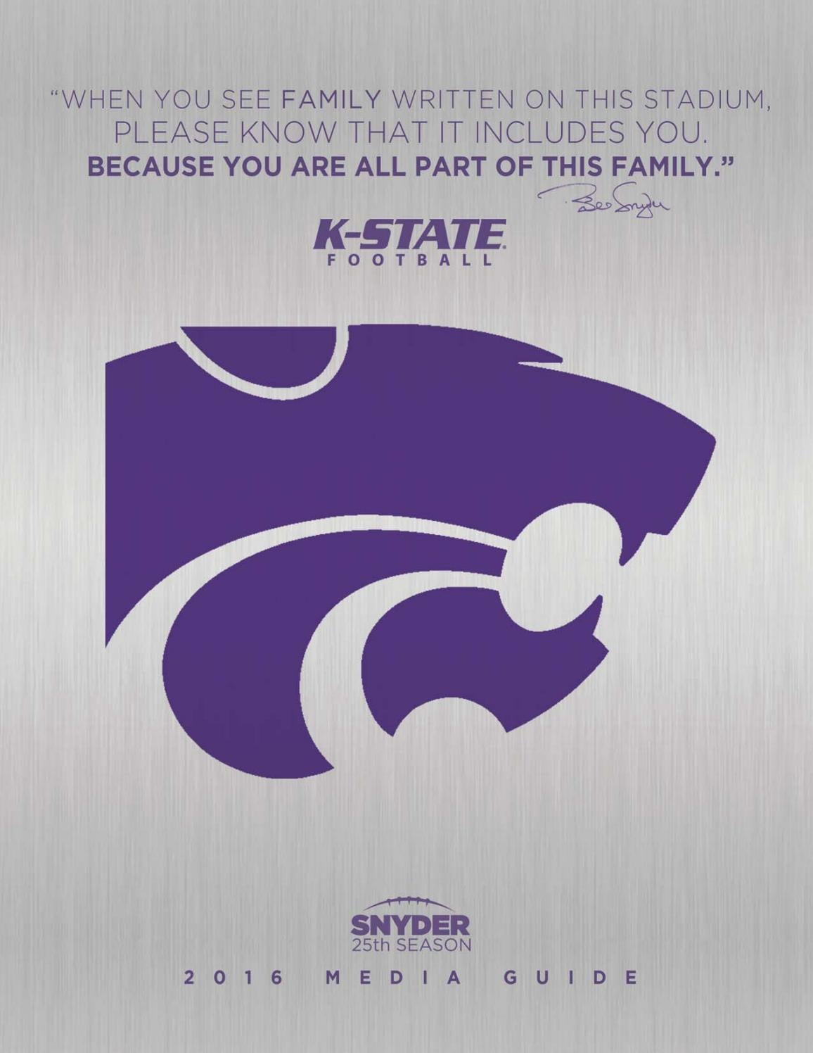 2016 K State Football Media Guide by