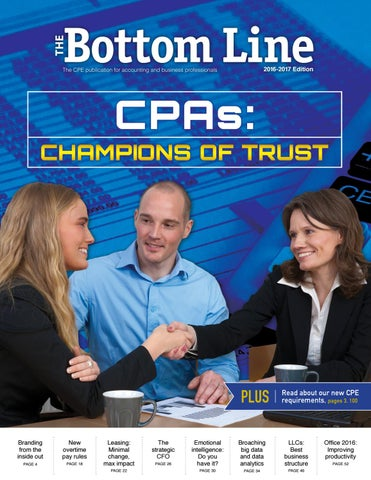 The Bottom Line, 2016 Edition By WICPA   Issuu