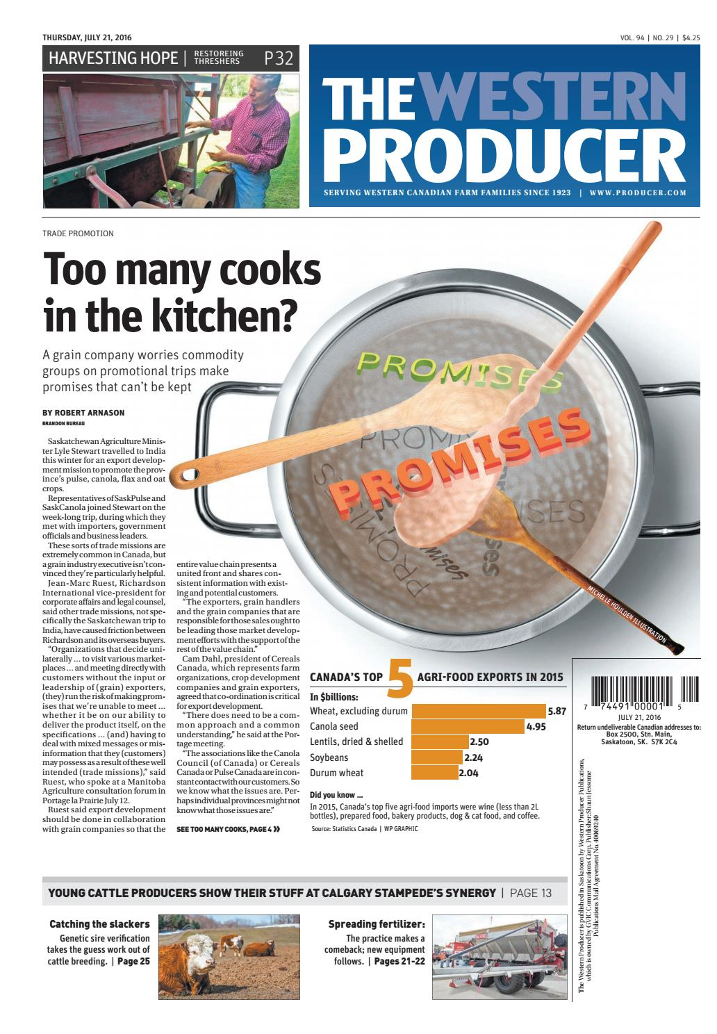 The western producer july 21, 2016 by The Western Producer ... on