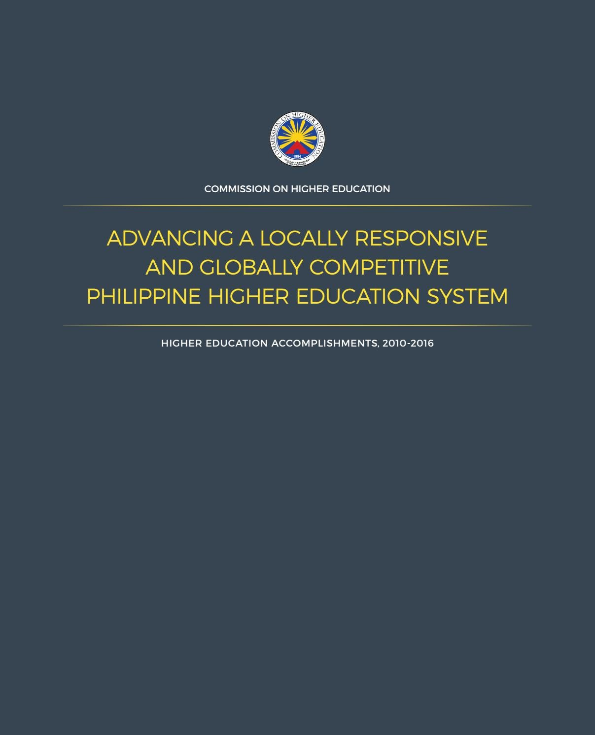CHED Accomplishment Report 2010-2016 by pktan - issuu
