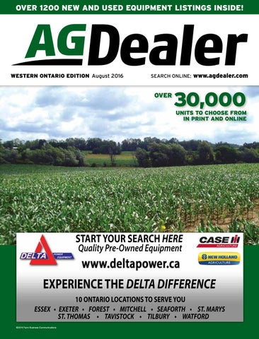 AGDealer Western Ontario Edition, August 2016 by Farm Business