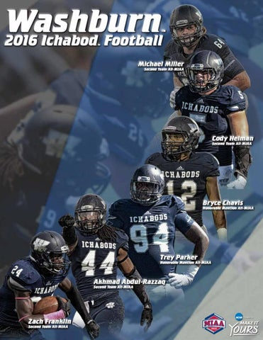 Cheap 2016 Washburn Ichabod football media guide by Washburn Athletics issuu  for sale