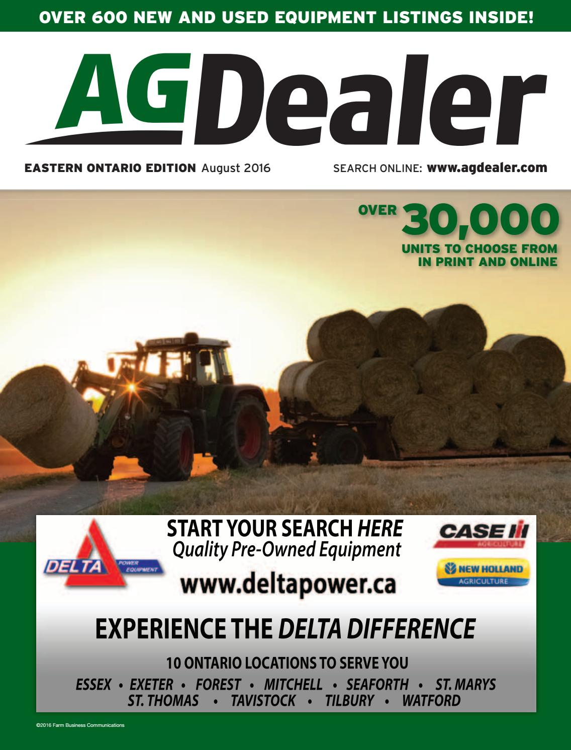 Agdealer Eastern Ontario Edition August 2016 By Farm Business John Deere Snowblower Trs Parts Diagram Car Interior Design Communications Issuu