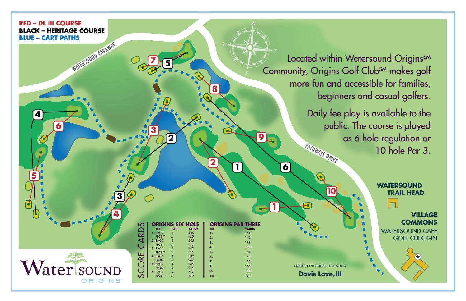 Origins Golf Club Course Map By St Joe Hospitality Issuu