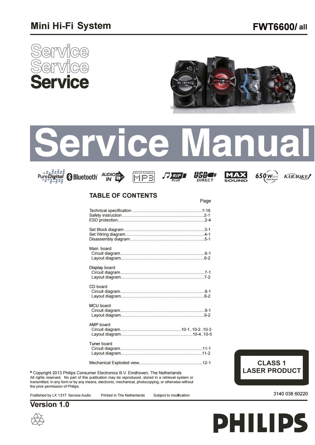 page_1 manual de servi�o mini hi fi system fwt6600 all by portal da  at crackthecode.co