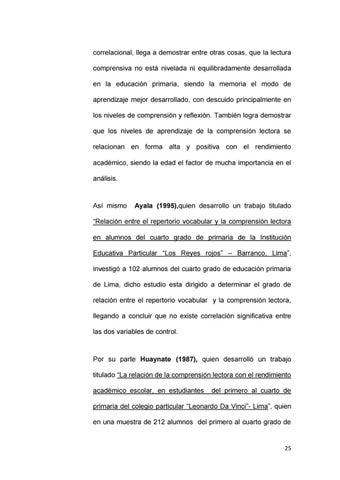 Tesis comprension lectora y rendimiento academico by madami - issuu