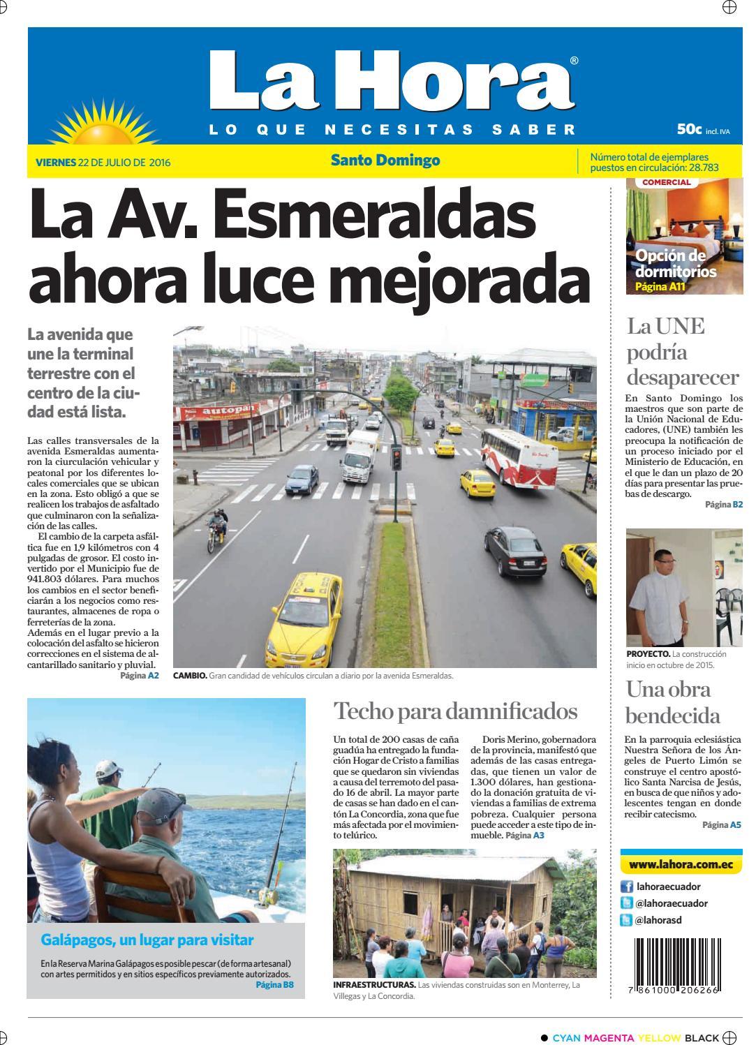 d03abe5174 Santo Domingo 22 de Julio de 2016 by Diario La Hora Ecuador - issuu