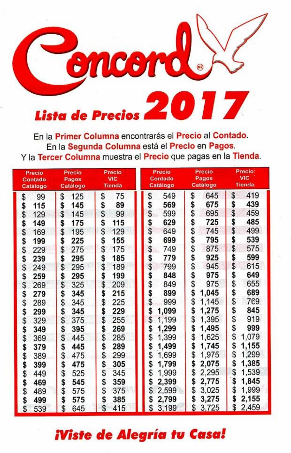 Catalogo Concord Convertidor 2016 2017 By Catalogos Por