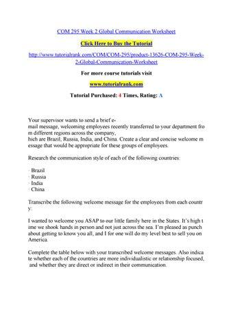 Com 295 Week 2 Global Communication Worksheet By Marvel87 Issuu