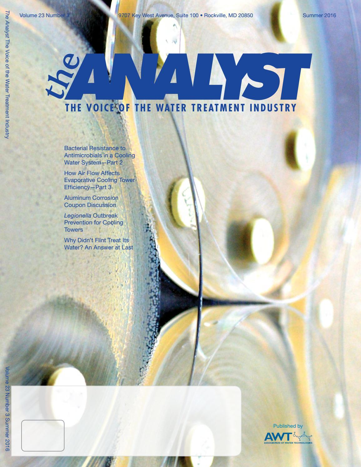 Awt analyst summer 16 by Association of Water Technologies