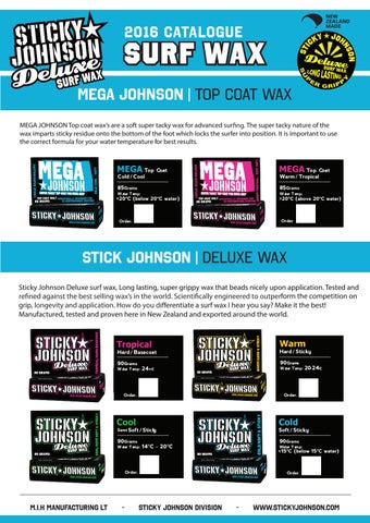 Sticky Johnson Deluxe Tropical Surf Wax 3 Pack