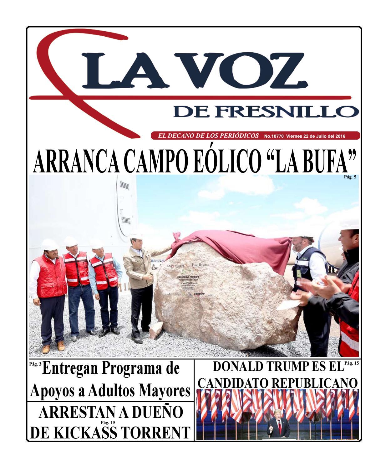 Viernes 22 de Julio del 2016 by La Voz de Fresnillo - issuu