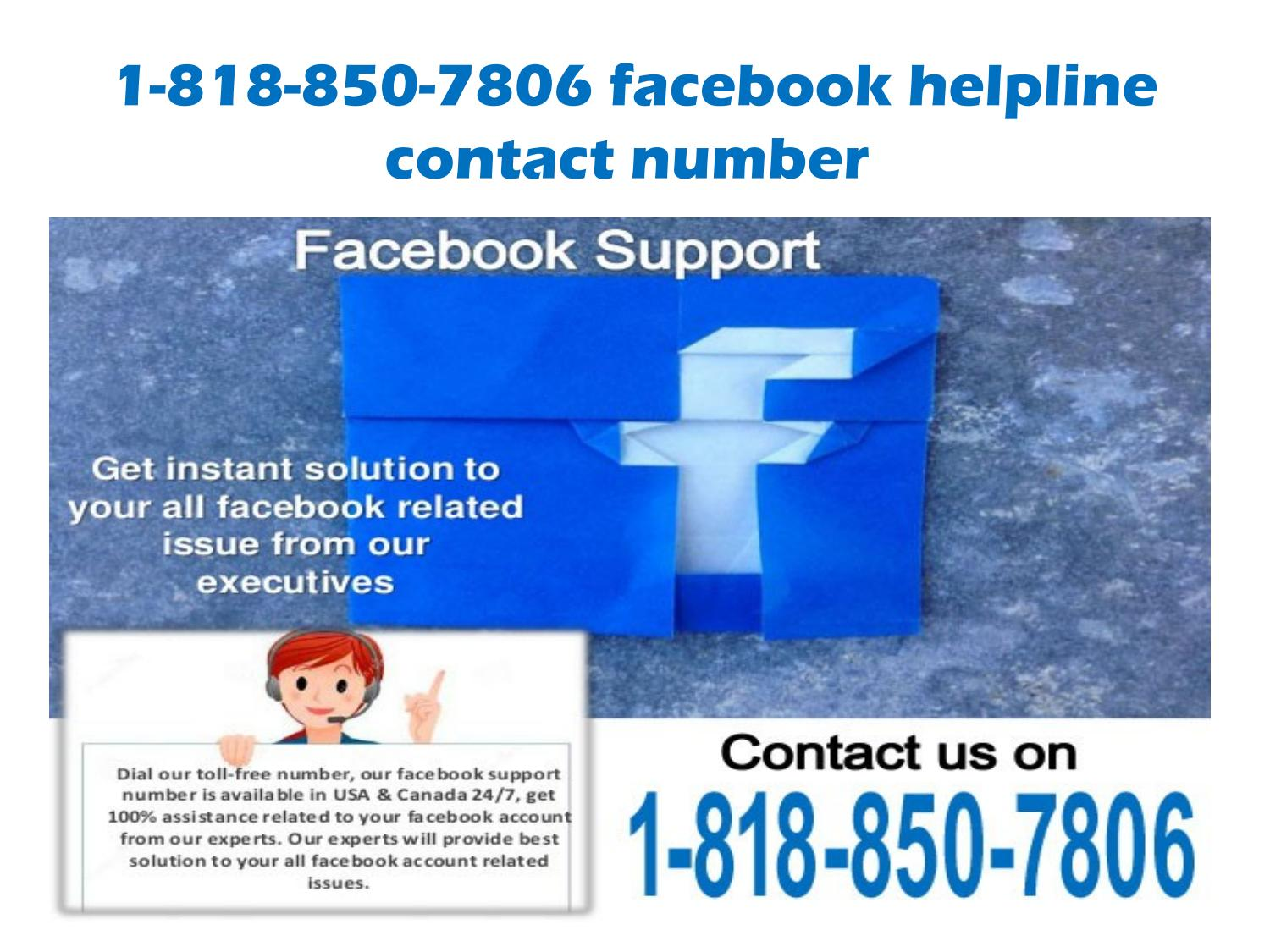 1-818-850-7806 facebook contact help line phone number by amelia