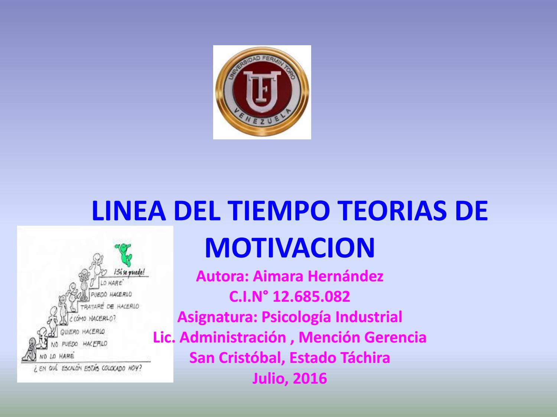 Linea De Tiempo Teoria De La Motivacion Aimara Hernandez By