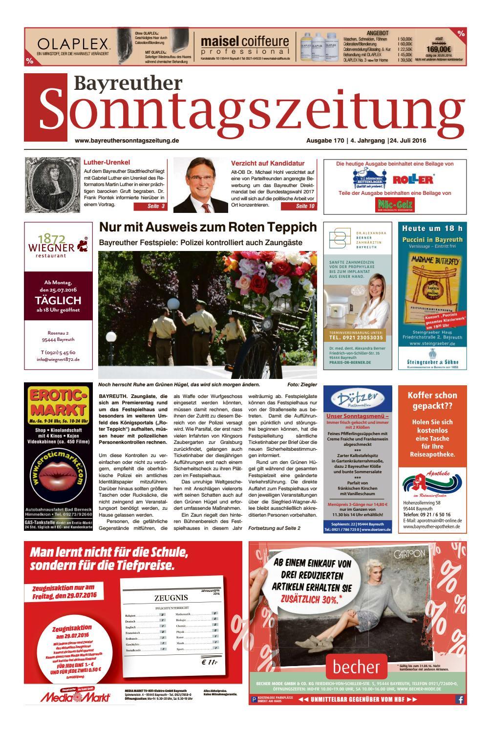 Bayreuther sonntagszeitung vom 24 07 2016 by Bayreuther ...
