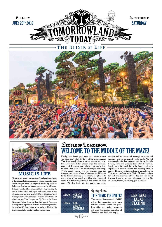 Tomorrowland Today, July 23rd 2016 by Tomorrowland - issuu
