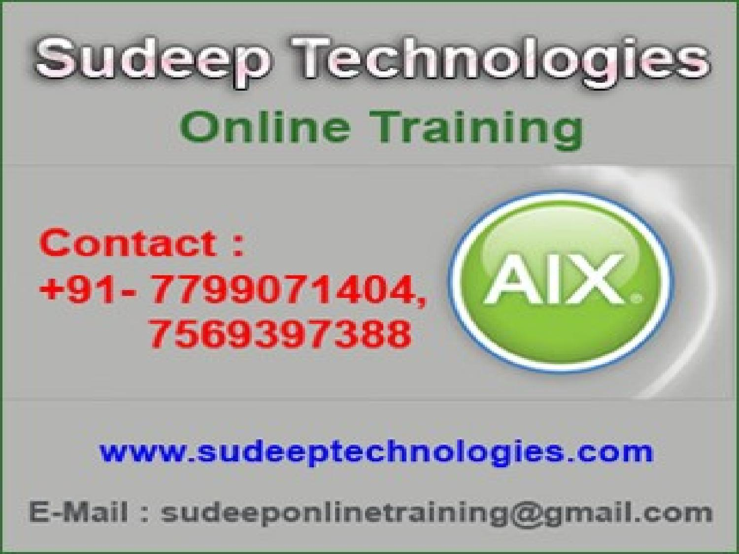IBM aix Online Training from USA by sudeeptechnologies - issuu