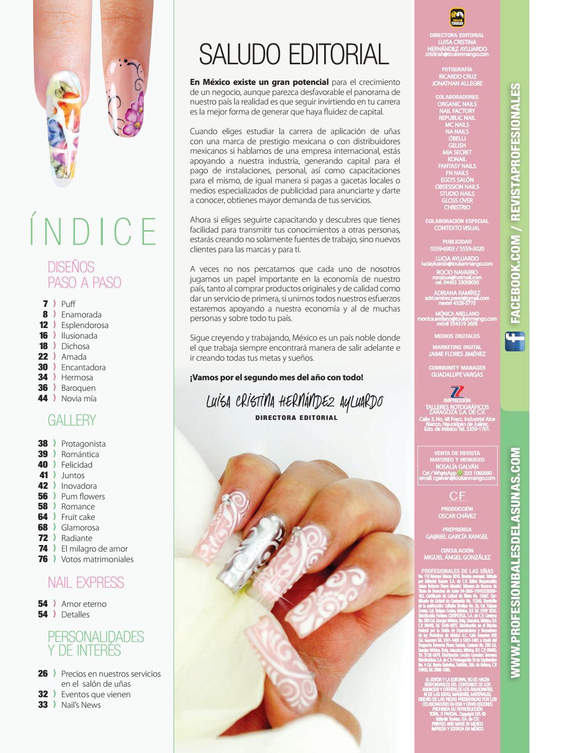 Profesionales de las uñas No. 113 by Editorial Toukan - issuu