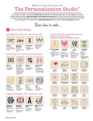 Thirty One Gifts Personalization Studio Fall Winter 2016