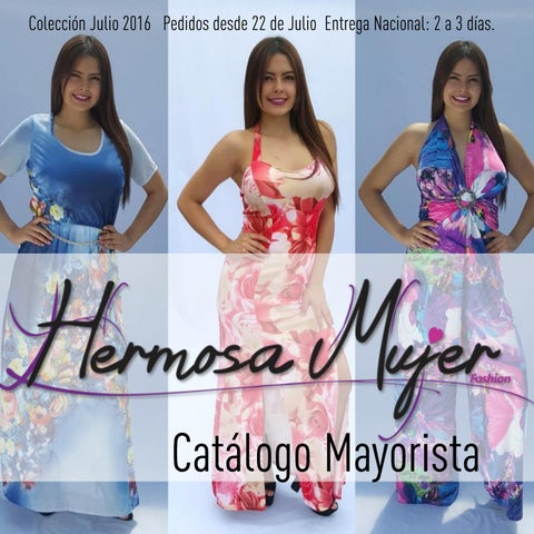 Catálogo Mayorista Ropa Hermosa Mujer. Colección Julio Agosto 2016 ... 754f9e45310
