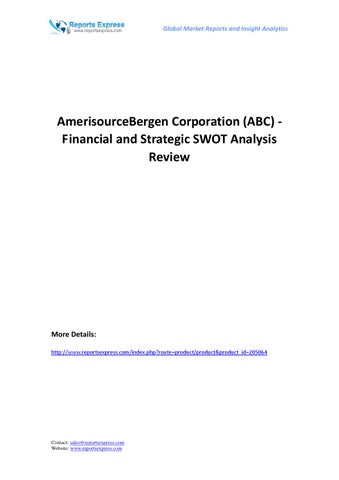 Amerisourcebergen corporation (abc) financial and strategic swot