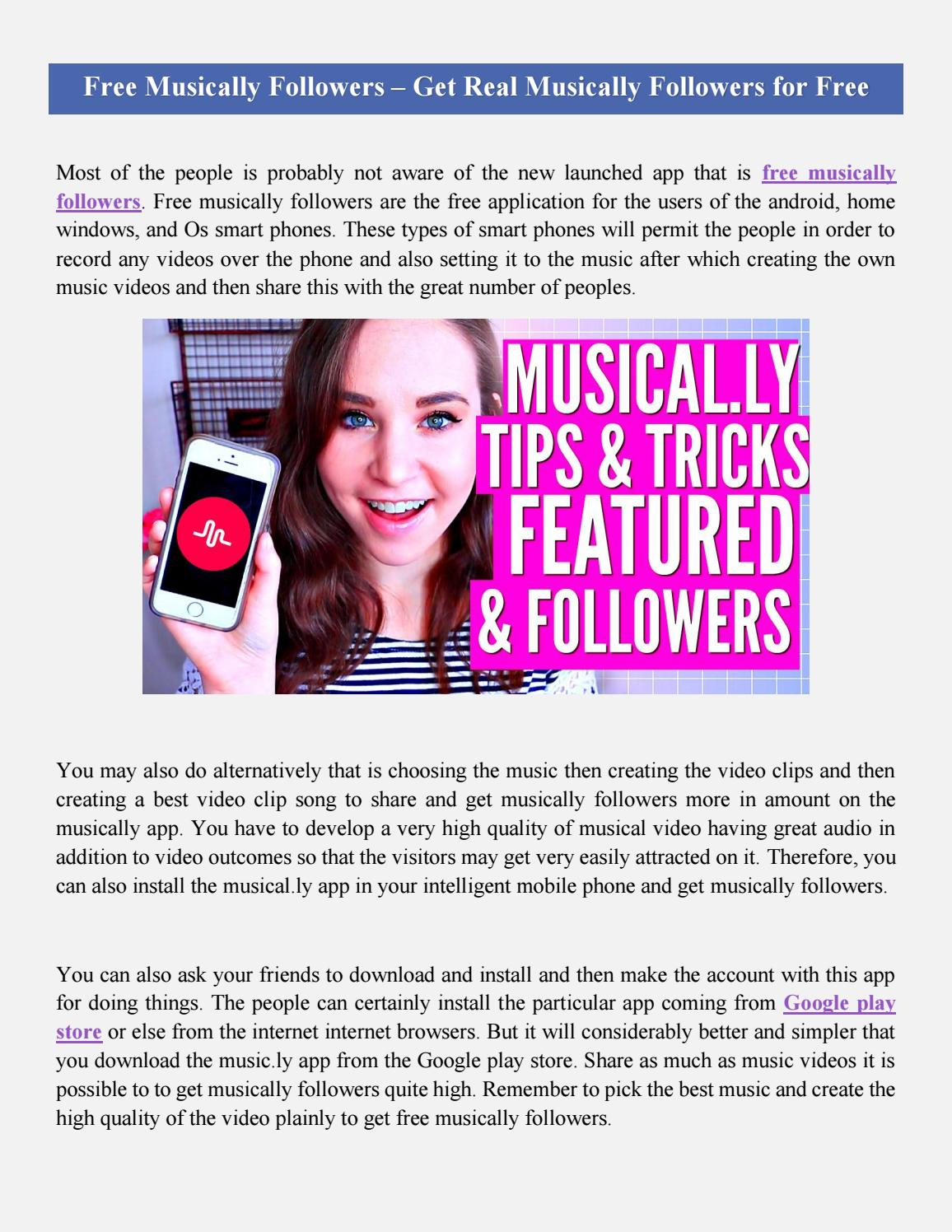 Free Musically Followers Pdf By Victoriawilsonn Issuu