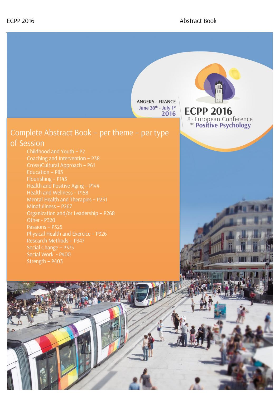 8th Ecpp 2016 Complete Abstract Book By Carco Issuu