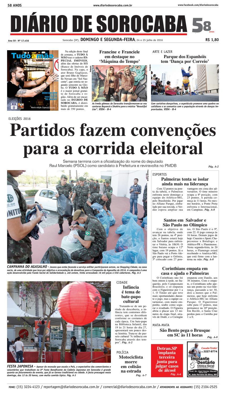 a921e1077 Edição de 24 de julho de 2016 by DIÁRIO DE SOROCABA - issuu