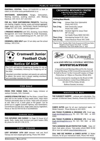 Bulletin 1489 By Cromwell Bulletin Issuu
