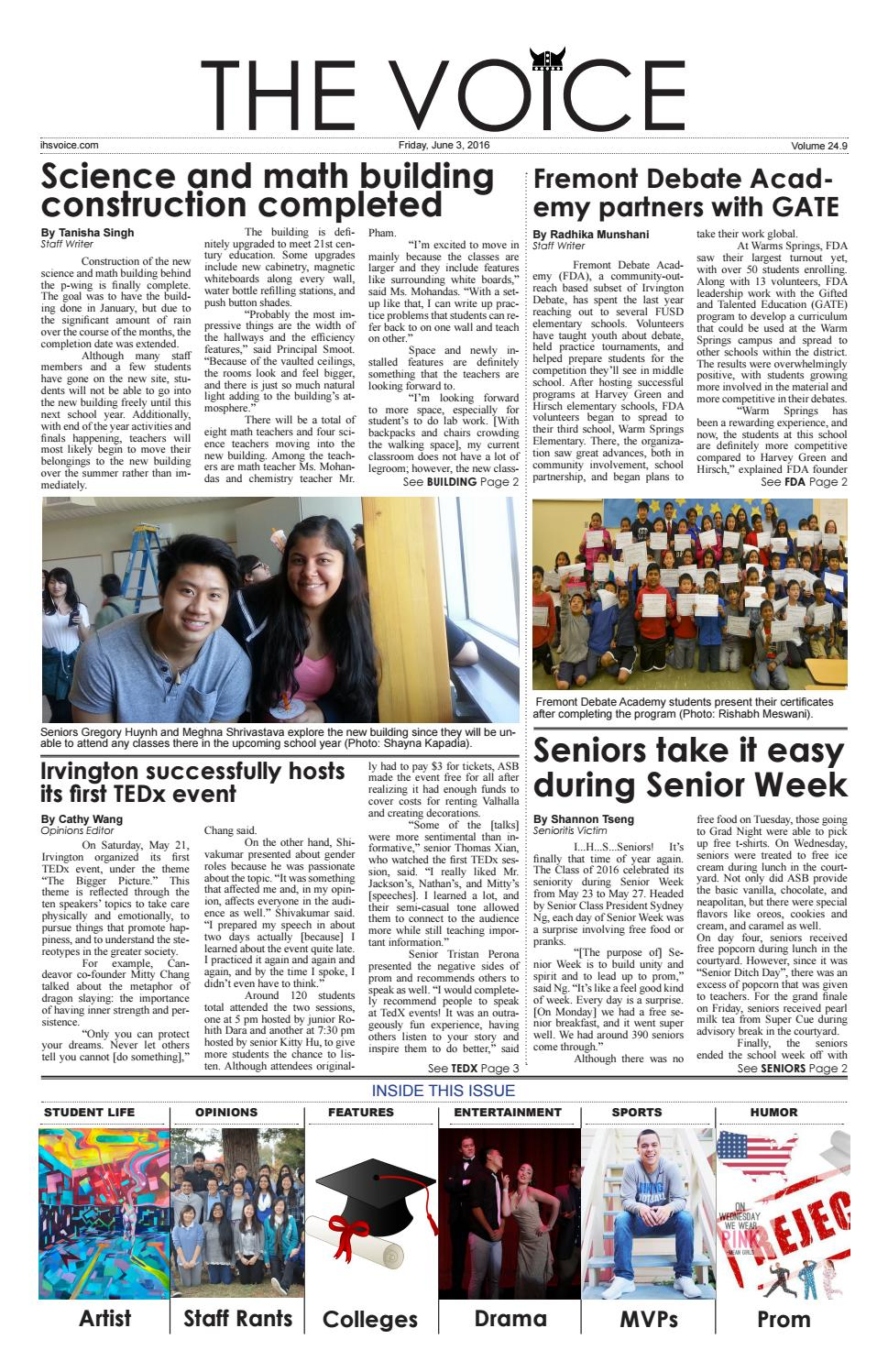 Volume 24 Issue 9 by The Irvington Voice - issuu