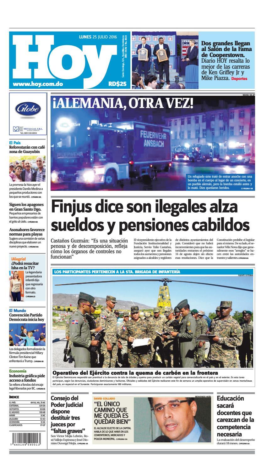 Edicion Impresa Hoy Lunes 25 De Julio 2016 By Periodico