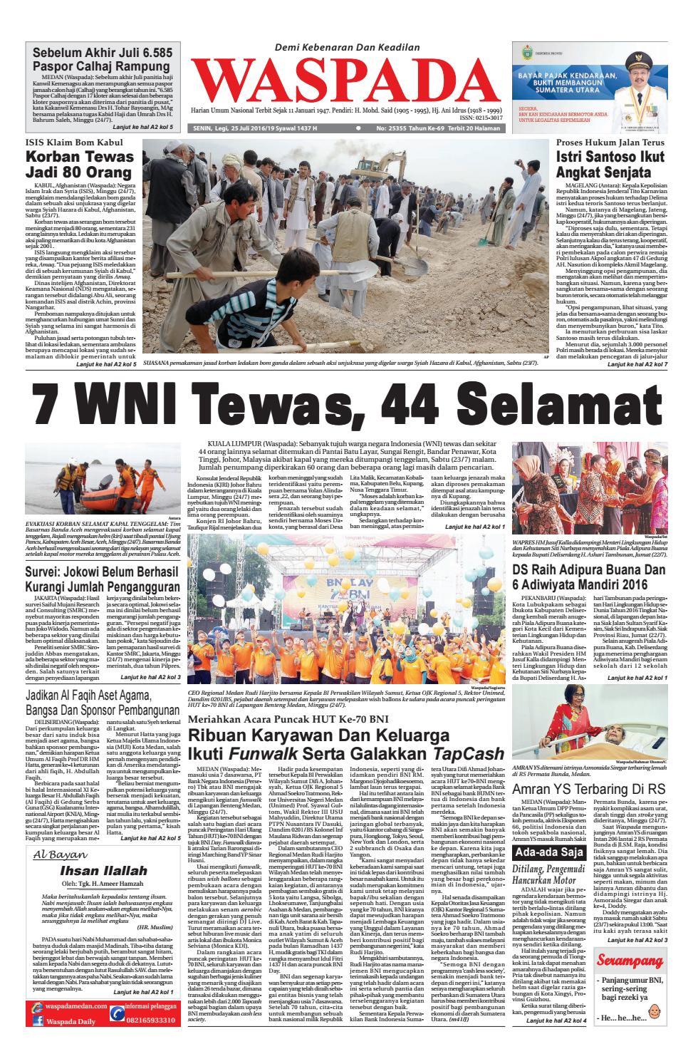 Waspada, senin 23 juli 2016 by Harian Waspada - issuu