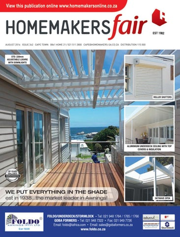 Homemakersfair Cape Town August 2016 By Homemakers Issuu