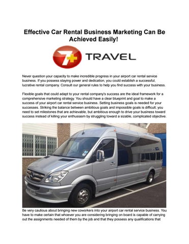 7plustravel by 7 plus travel issuu effective car rental business marketing can be achieved easily malvernweather Choice Image