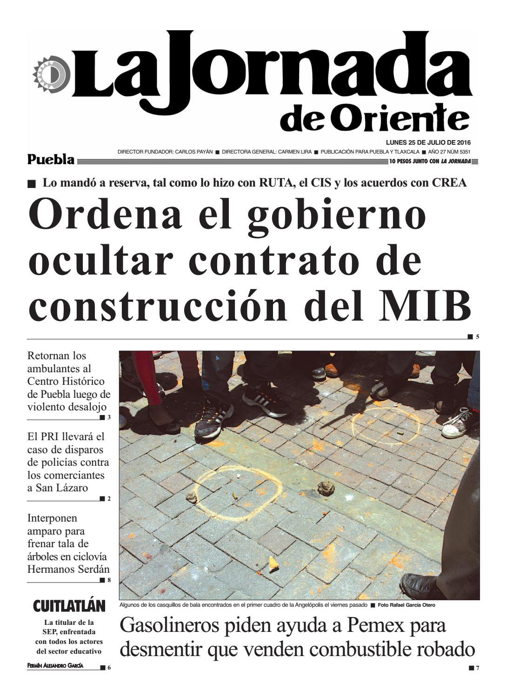 5351 Puebla La Jornada De Oriente Puebla 25 07 16 By La Jornada  # Ad Hoc Muebles Puebla