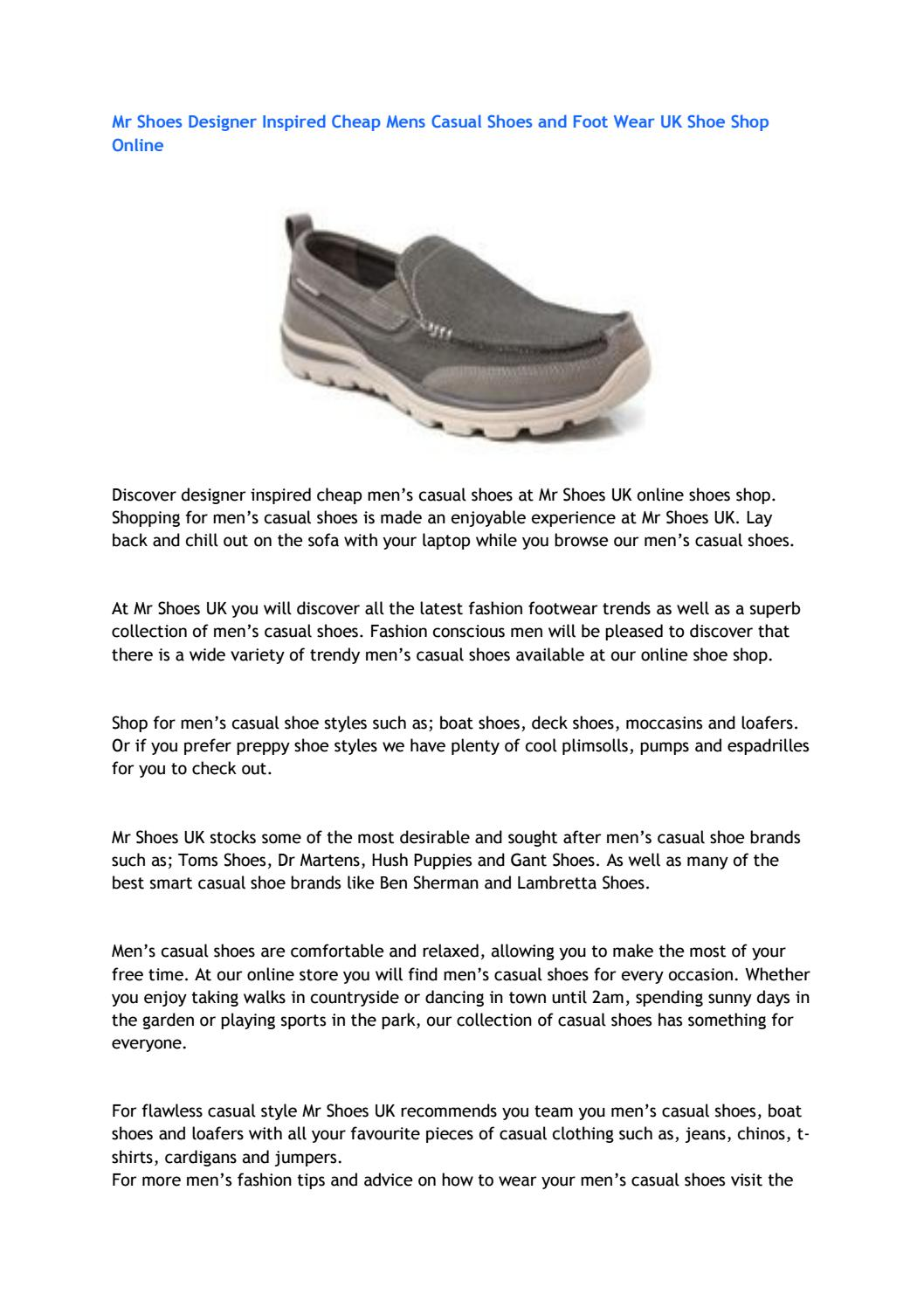 Mr Shoes Designer Inspired Cheap Mens Casual Shoes and Foot